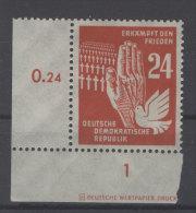 DDR Michel No. 279 ** postfrisch Eckrand