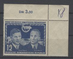 DDR Michel No. 296 ** postfrisch Eckrand / senkrecht oben minimal angetrennt