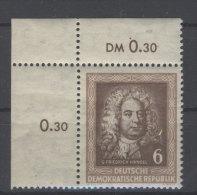 DDR Michel No. 308 ** postfrisch Eckrand