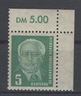DDR Michel No. 322 ** postfrisch Eckrand