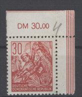 DDR Michel No. 327 ** postfrisch Eckrand / senkrecht gefaltet