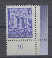 DDR Michel No. 374 ** postfrisch Eckrand