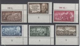DDR Michel No. 398 - 403 ** postfrisch Eckrand / No. 399 , 400 , 402 , 403 waagerecht gefaltet