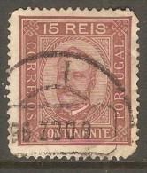 PORTUGAL    Scott  # 69b  VF USED---CREASE - 1892-1898 : D.Carlos I