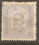 PORTUGAL    Scott  # 70  VF USED---REPAIRED TEAR - 1892-1898 : D.Carlos I