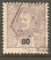 PORTUGAL    Scott  # 123  VF USED - 1892-1898 : D.Carlos I