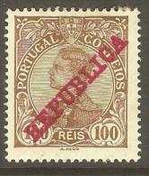 PORTUGAL    Scott  # 179*  VF MINT HINGED - 1910 : D.Manuel II