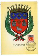 CARTE MAXIMUM / FRANCE N° 1182 / ARMOIRIE / BLASON / HERALDIQUE  / TOULOUSE  / AGNEAU   EGLISE - Armoiries