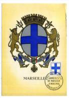 CARTE MAXIMUM / FRANCE N° 1180 / ARMOIRIE / BLASON / HERALDIQUE  / MARSEILLE / CROIX - Armoiries