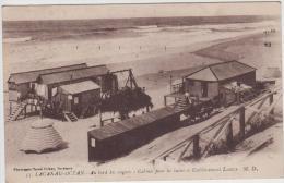 LACANAU OCEAN AU BORD DES VAGUES CABINES POUR LES BAINS ET ETABLISSEMENT LACAZE 1922 TBE - Other Municipalities