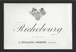 Etiquette De Vin Bougogne -   Richebourg -  ND 20/30 ? -   L. Violland à Beaune (21) - Bourgogne