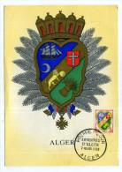 CARTE MAXIMUM / FRANCE N° 1195 / ARMOIRIE / BLASON / HERALDIQUE  /  ALGER / - Coat Of Arms
