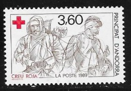 ANDORRE FRANCAIS N° 380 - 1989  - NEUF  CROIX ROUGE - French Andorra