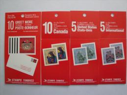 Canada 1990  Lot Carnets Yvert C1160 - C1161a - C1162a - C1163a ** BK 119-120-121-122 -Scott 1294a/97a - Carnets Complets