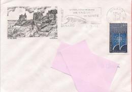 35 -  Flamme De DINARD Sur Enveloppe Illustrée - 1961-....