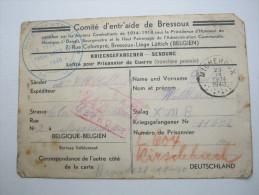 1940,  STALAG,  Carte Avec Censuree ,  Belgian Prisonner - Marcophilie (Lettres)