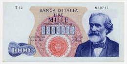 1000 LIRE, DATA EMISS. 04/01/1968 (R3) ITALIA - ITALY (SUP - AU) Firme - Sign. Carli-Pacini - [ 2] 1946-… : République