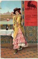 Espagne - Sevilla - Tipos Andaluces, Una Flamenca ( Toros ) - Espagne