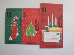 Canada 1991  Lot Carnets Noël Yvert C1213a - C1214a - C1216** BK 134b-135b-137b -Scott 1339a/42a - Carnets Complets