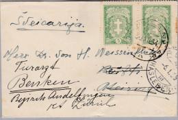 Litauen 1934-12-30 Brief Nach Meiringen Weitergeleitet Nach Benken - Lituanie