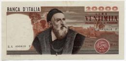 20000 LIRE, DATA EMISS. 21-02-1975 ITALIA - ITALY (SUP - AU) Firme - Sign. Carli-Barbarito - [ 2] 1946-… : Républic