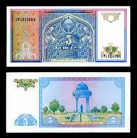 UZBEKISTAN 5 SUM 1994 P 75 UNC - Uzbekistan