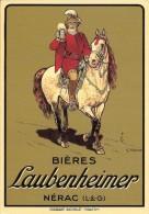 47 NERAC   Pub Bières Laubenheimer - Advertising