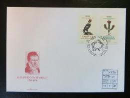 """1994  """" Alexander Von Humbold  """"  Satz ET. Gestempelt Auf Karte   LOT 538 - Liechtenstein"""