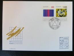 """1993  """"  Zeitgenösssische Kunst  """"   Satz ET. Gestempelt Auf Karte   LOT 539 - Briefe U. Dokumente"""
