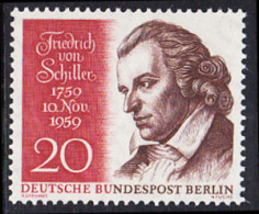 !a! BERLIN 1959 Mi. 190 MNH SINGLE -Friedrich Von Schiller - [5] Berlin