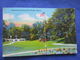 Beautiful Big Spring Park, Neosho, Missouri. CT American Art (Curteich) 8B384-N For Adams News. Voyage 1945. - Etats-Unis
