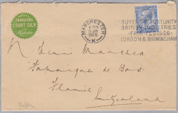 GB 1926-01-29 Manchester Perfin Brief Nach Flawil - 1902-1951 (Kings)