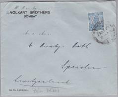 Indien 1929-06-22 Bombay Perfin Brief Nach Speicher - Inde