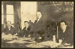 LENIN In The Présidium At The Congress Of Comintern Moscow 1919 - Personnages