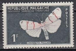 Madagascar, 1959 - 1f Butterfly - Nr.309 MNH** - Madagascar (1960-...)