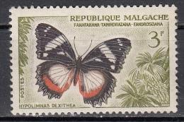 Madagascar, 1959 - 3f Butterfly - Nr.310 MLH* - Madagascar (1960-...)