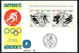 Bund 1972: FDC Sporthilfe, 1972    (A026) - FDC: Sobres