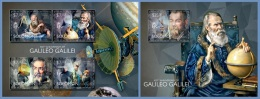 slm14506ab Solomon Is. 2014 Space Galileo Galilei 2 s/s