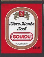 Etiquette Bière Blonde  Bock  -  Goulou  -  Comptoirs Modernes  Le Mans  (72) - Beer