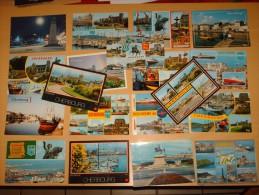 LOT 20 CPSM CPM Cpa POSTCARD NORMANDIE 50 CHERBOURG CP Tout EN PHOTOS SCAN V1985/2000 Multivues Port Ville Ferrie Boat - Cherbourg