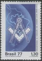 Brazil 1977, MNH, Freemasonry / Masonic Lodge - Franc-Maçonnerie