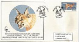 Le Caracal D´Afrique (Lynx Du Desert) . Une Enveloppe FDC De Namibie (SWA) Adressée à Johannesburg - Big Cats (cats Of Prey)