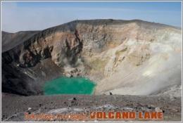 Ebeko,Russia, Kuril Islands. Volcano Lake Postage Card 3268-16 - Postkaarten