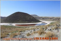 Karapınar Volcanic Field And Meke Golü Crater Lake Panorama,Russia. Volcano Lake Postage Card 3268-16 - Postkaarten
