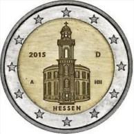 Duitsland 2015    2 Euro Commemo  Letter  F   Hessen  Atelier  F    UNC Uit De Rol  UNC Du Rouleaux - Deutschland