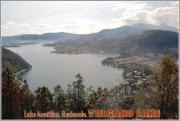 Lake Amatitlon, Guatemala. Volcano Lake Postage Card 3268-16 - Postkaarten