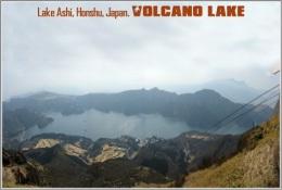 Lake Ashi, Honshu, Japan. Volcano Lake Postage Card 3268-16 - Postkaarten