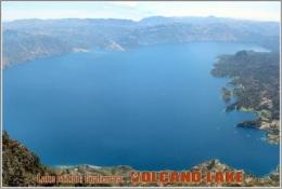 Lake Atitlon, Guatemala. Volcano Lake Postage Card 3268-16 - Postkaarten
