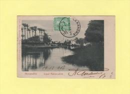 Alexandrie - 8-12-1903 - Carte Canal Mahmoudieh - Égypte