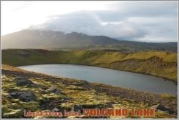 Lake Bardarlaug, Iceland. Volcano Lake Postage Card 3268-16 - Postkaarten